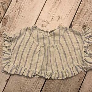 Toddler boho ruffle shirt